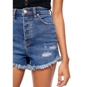 Free People | Vintage High Rise Denim Shorts 34